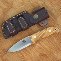 TBS Lynx Bushcraft Knife - Natural Oliv - N695 Stainless Steel