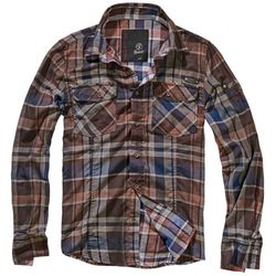 Check Shirt Cotton crashed Chocolate/Blue